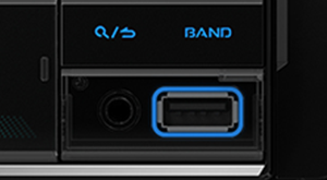 Front USB and AUX Input Compatible with a Variety of USB-Enabled Devices