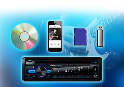 Clarion CZ307AU CD MP3 WMA USB SD iPod iPhone Bluetooth Receiver