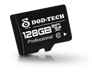 Support up to 128GB microSD Cards