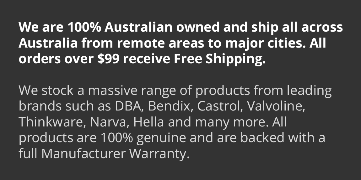 We are 100% Australian owned and ship all across Australia from remote areas to major cities. All orders over $50 recieve Free Shipping.